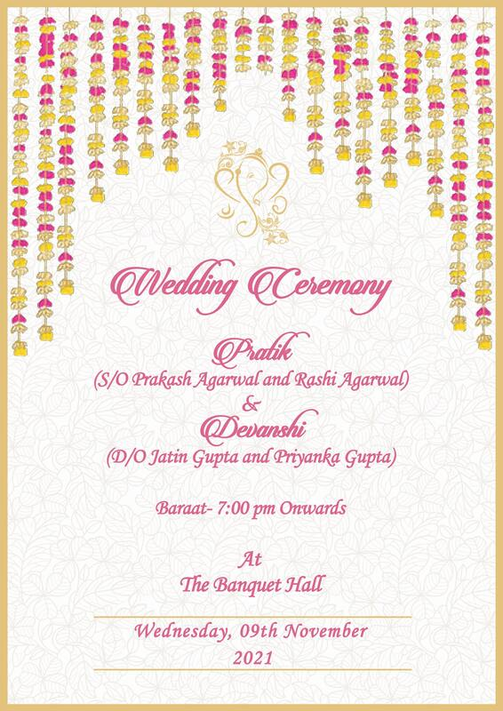 30 Royal Indian Wedding Invitation Cards Free Customization